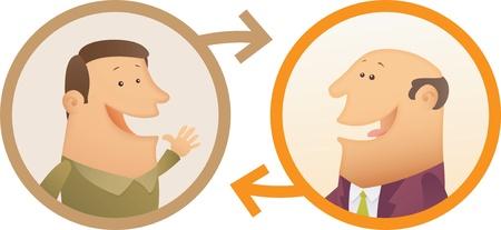Illustration of People Connection Stock Illustratie
