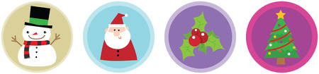 Illustration of 4 Flat Christmas Icons vol 2