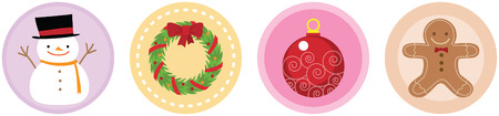 Illustration of 4 Flat Christmas Icons vol 3