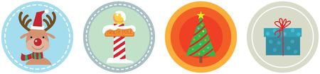Illustration of 4 Flat Christmas Icons vol 4