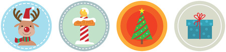 Illustration of 4 Flat Christmas Icons vol 4