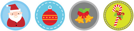 Illustration of 4 Flat Christmas Icons vol 5