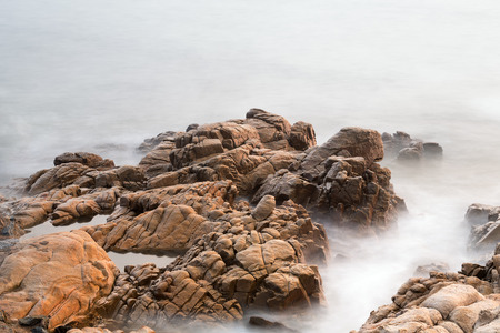 The seaside with rock
