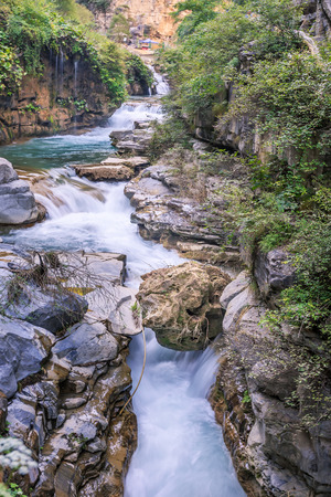 waterfall scenery Banco de Imagens
