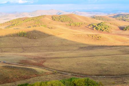 The prairie in autumn Stock Photo