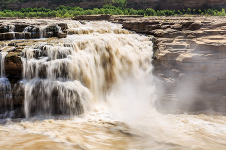 Hukou waterfall of Yellow River