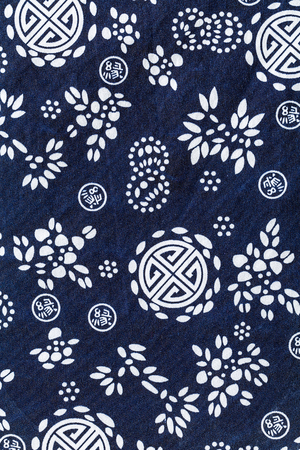 white flower, dyed cloth pattern background