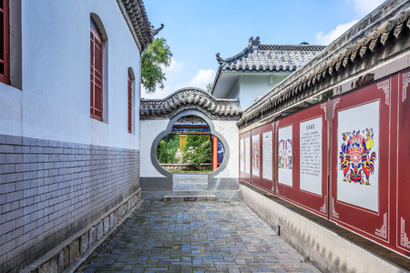 traditional Chinese wall art in Yang Jia Bu, Shandong
