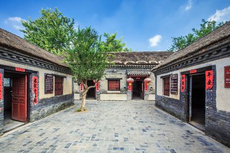 Ancient Courtyard in Yang Jia Bu, Shandong Editorial