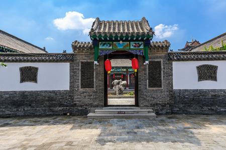 traditional  gatehouse in Yang Jia Bu, Shandong