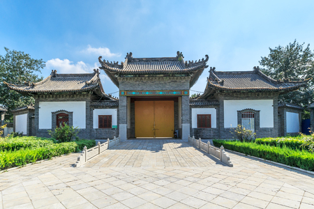 Yang Jia Bu classical architecture of building Banco de Imagens