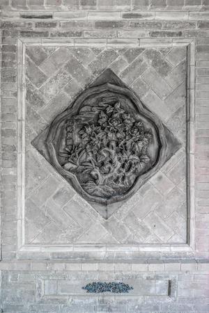 wall brick carving