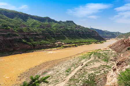 Beautiful scenery of the Yellow River in Jixian County, Shanxi Province Banque d'images