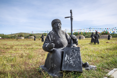 The figure of the Khan Palace in Jingbei Grassland