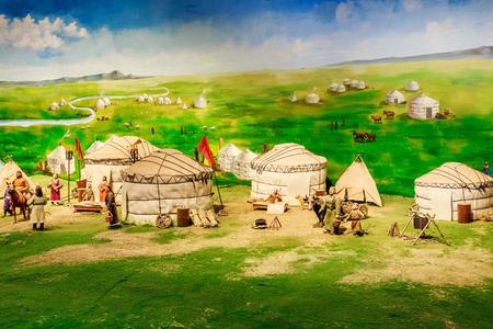 Mongolian production and life scene simulation map