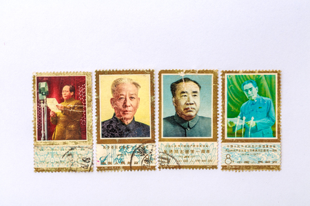 Great man old commemorative stamp 報道画像