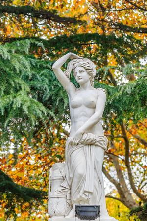 European female white marble statue Banco de Imagens
