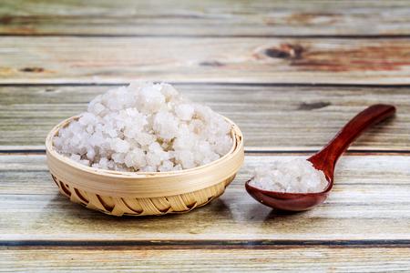 Coarse salt crystal