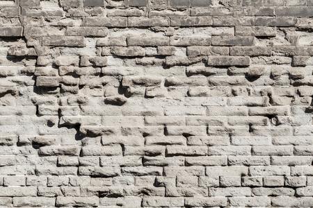 Ancient gray brick wall texture