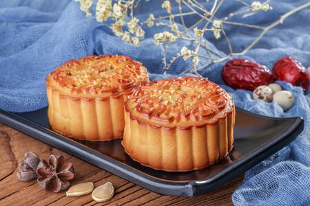 Chinese Mid-Autumn Festival traditional food mooncake