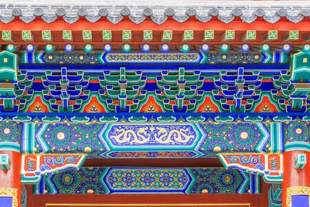 Chinese style retro architectural painting 写真素材