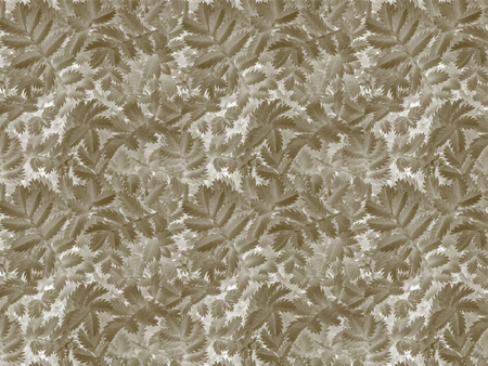 A pattern texture of grass with carved leaves in sepia we see in the photo 写真素材