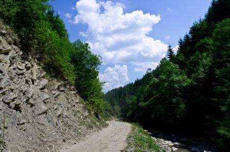 Mountains road Stock Photo