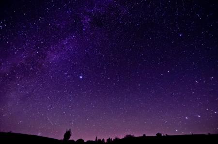 Voie Lactée et Sars fond de ciel nocturne Banque d'images