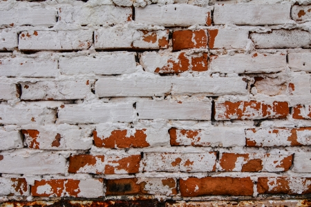 Plastered brick old wall surface texture photo