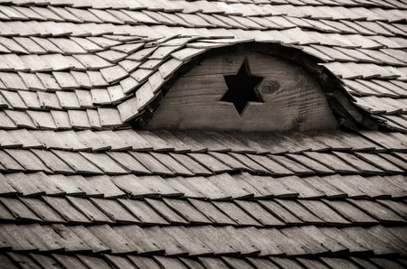 zionism: Old Jewish wooden house