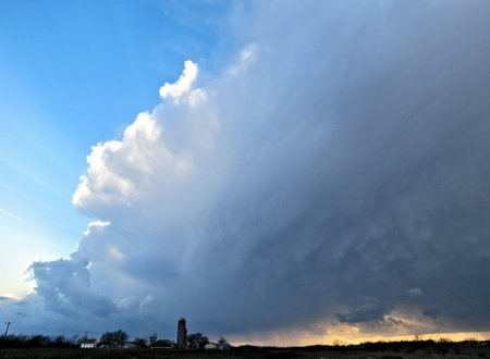 Supercell Thunderstorm Approaching From the Northwest Stock Photo
