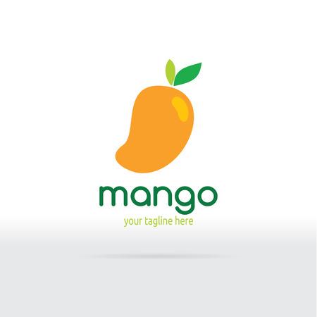 mango juice: Flat Design. Fruit Vector illustration.