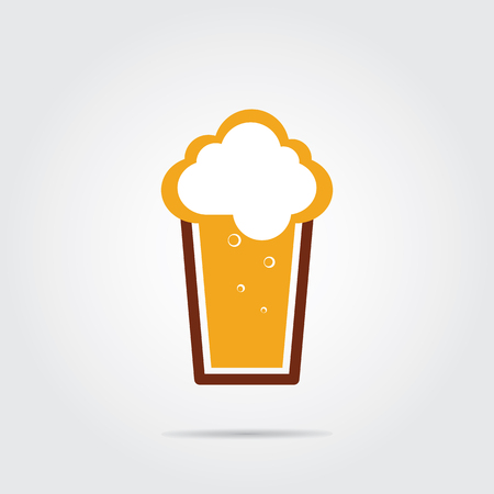 and draft beer: Glass of beer.Brewery Vector illustration. Draft beer.