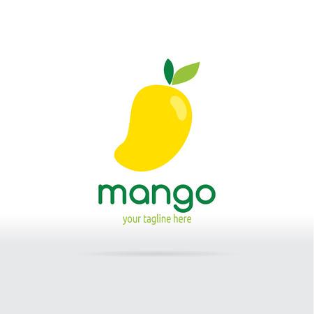 mango: Mango Logo płaska. ilustracji wektorowych owocowe. Ilustracja