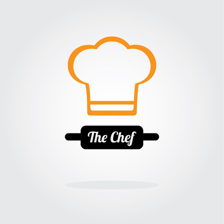 The Chef concept. Chef cap icon. Cooking cap. cooking logo,Vector Logo Template. Иллюстрация