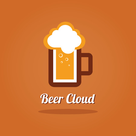 steins: A mug of beer. Brewery Vector illustration. Draft beer. Icon for food, chef, lunch, dinner, menu sign.