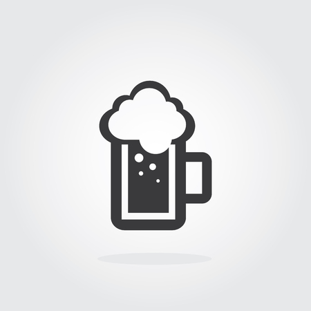 A mug of beer. Brewery Vector illustration. Draft beer. Icon for food, chef, lunch, dinner, menu sign.