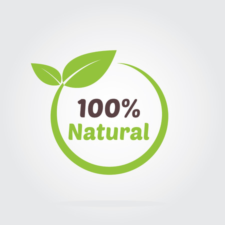 grown with love: Organic food badge for food and drink, restaurants and organic products vector illustration.