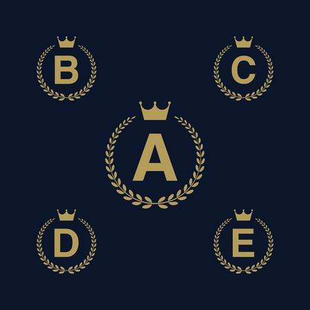 Laurel wreath logo icon with capital alphabet letters design laurel wreath logo icon with capital alphabet letters design template elements letter a spiritdancerdesigns Choice Image