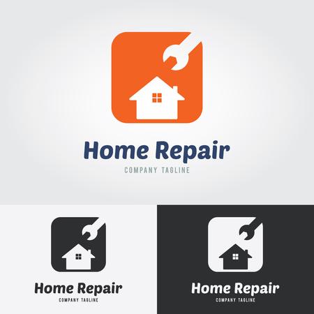 water damage: Home Repair Logo.