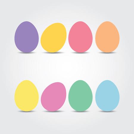 osterei: Ostereier. Vektor-Illustration. Ostereier Vektor-Icons flach Stil. Ostereier isoliert Vektor. Ostereier für Ostern Design. Ostereier auf weißem Hintergrund.