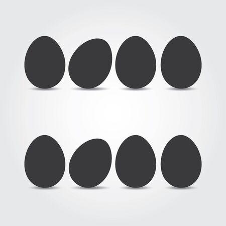 osterei: Ostereier. Vektor-Illustration. Ostereier Vektor-Icons flach Stil. Ostereier isoliert Vektor. Ostereier f�r Ostern Design. Ostereier auf wei�em Hintergrund.