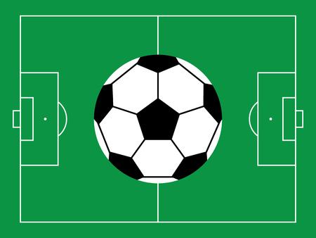 soccer field: Football  soccer field illustration