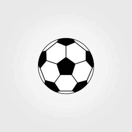 Football soccer ball icon Illustration