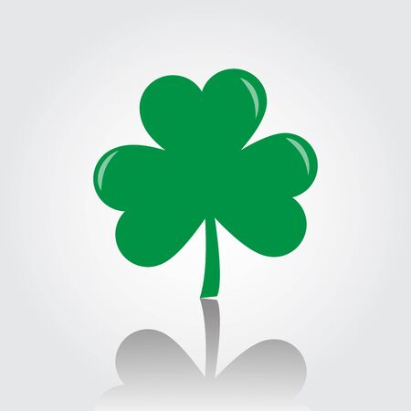 St patricks day with shamrock icon vector illustration. Illustration