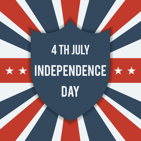 united stated: American Independence Day 4th of July. United Stated independence day greeting. Fourth of July typographic flat design for greeting card, banner, background, flyer, and cover.