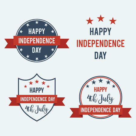 united stated: American Independence Day 4th of July. United Stated independence day greeting. Illustration