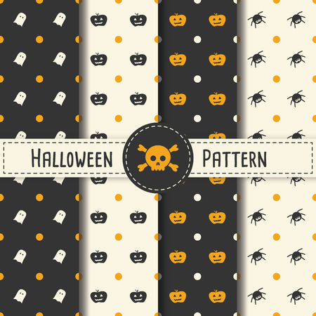 spider web: Halloween Pattern Set background for Halloween Party night. Seamless Pattern Halloween vector for Holiday with spider and web for banner, poster, greeting card, party invitation illustration.