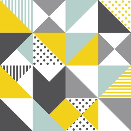 Seamless geometric pattern. Abstract triangle geometrical background Vector illustration. geometric mosaic art abstract with triangle background. Infinity geometric pattern.  イラスト・ベクター素材