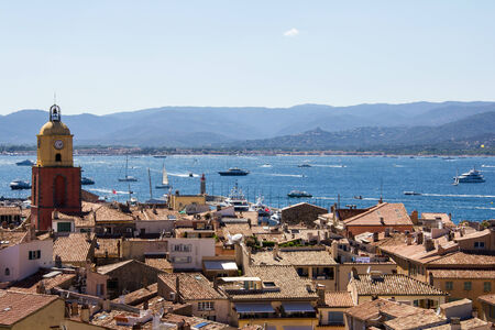tropez: View over the roofs of Saint Tropez (France) Stock Photo